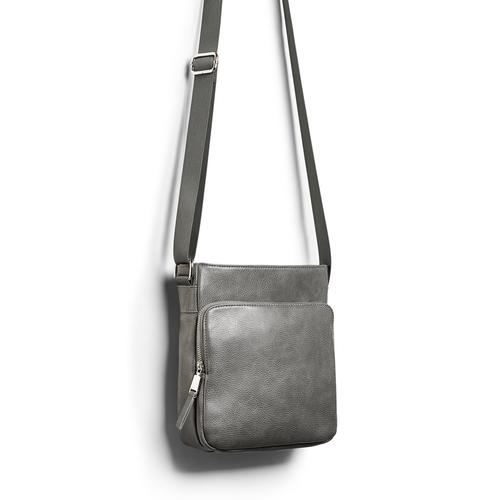 Tracolla da uomo bata, grigio, 961-2783 - 17