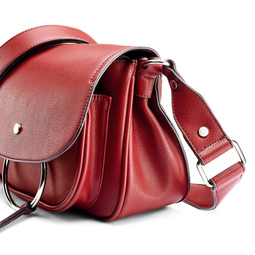 Borsa rossa con anello bata, rosso, 961-5161 - 15