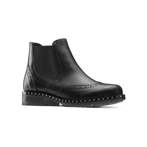 Stivaletti alla caviglia in pelle bata, nero, 594-6184 - 13
