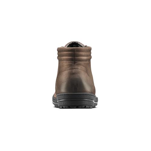 Sneakers uomo in vera pelle bata, marrone, 894-4295 - 16