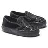 Slip on velluto con glitter, nero, 229-6211 - 19