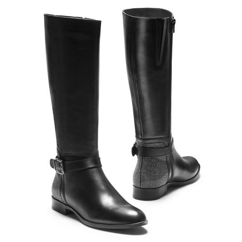 Stivali alti da donna bata, nero, 594-6301 - 19