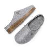 Pantofole in lana cotta bata, grigio, 579-2420 - 26