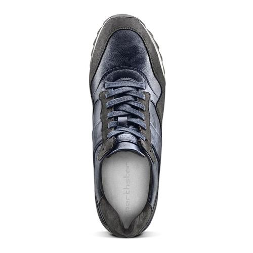 Sneakers casual da uomo north-star, blu, 841-9738 - 15