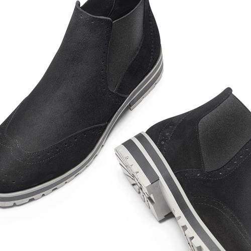 Chelsea Boots in suede da donna bata, nero, 593-6596 - 19