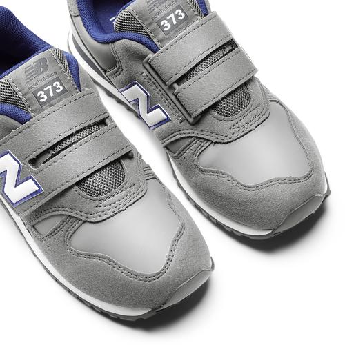 Sneakers da bambino con strap new-balance, grigio, 301-2473 - 19