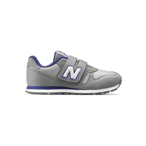 Sneakers da bambino con strap new-balance, grigio, 301-2473 - 26