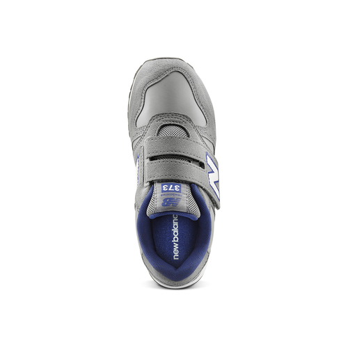 Sneakers da bambino con strap new-balance, grigio, 301-2473 - 15