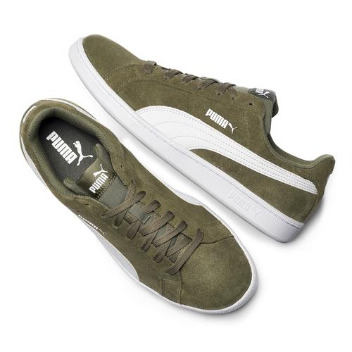 Sneakers Puma in suede puma, verde, 803-7312 - 19