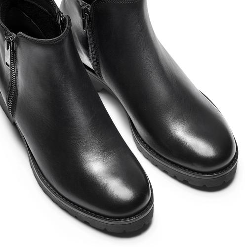 Stivaletti da donna con doppia zip bata, nero, 594-6583 - 15