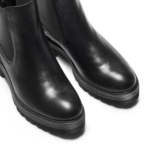 Chelsea Boots in vera pelle bata, nero, 594-6696 - 15