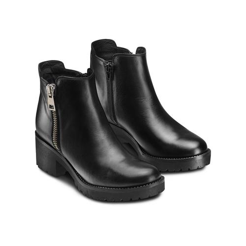 Stivaletti donna con zip bata, nero, 794-6220 - 16
