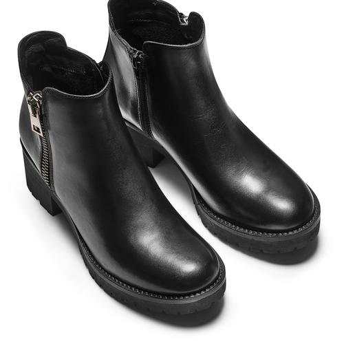 Stivaletti donna con zip bata, nero, 794-6220 - 17