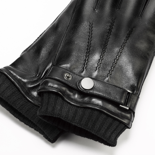 Guanti da uomo con cinturino bata, nero, 904-6127 - 26