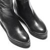 Stivali in pelle con zeppa interna bata, nero, 694-6222 - 15