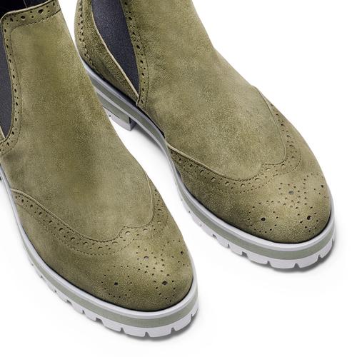 Stivaletti in suede da donna bata, verde, 593-7596 - 15