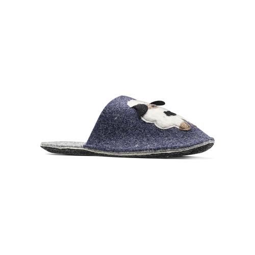 Pantofole in lana cotta da donna bata, blu, 579-9128 - 13
