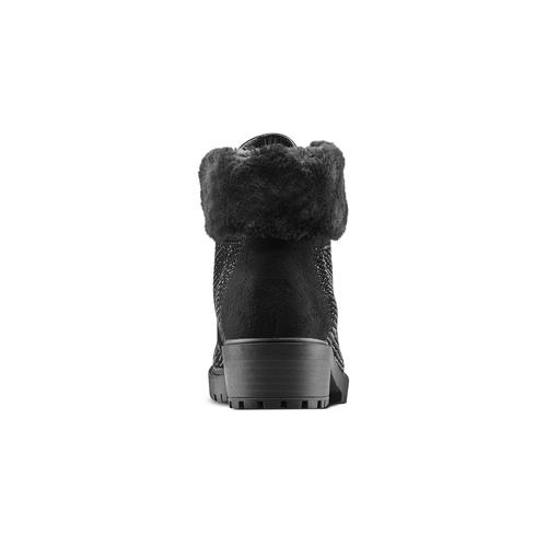 Scarponcini da bambina con glitter mini-b, nero, 399-6416 - 16