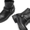 Ankle boots con borchie da bambina mini-b, nero, 391-6410 - 19
