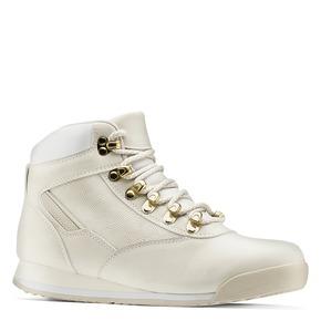Scarponcini con lacci bata, bianco, 591-1280 - 13