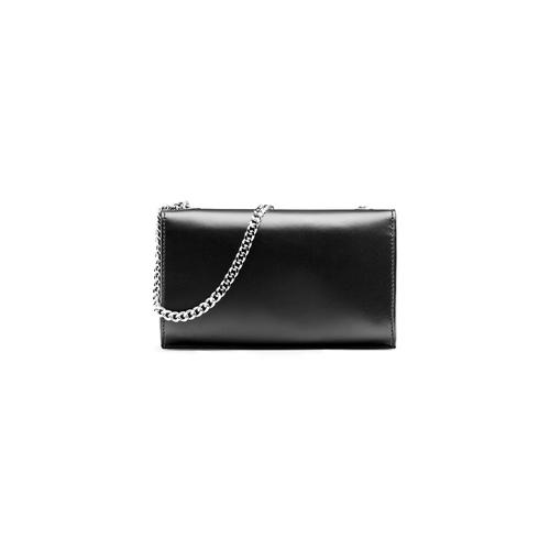 Tracolla in pelle con borchie bata, nero, 964-6277 - 26