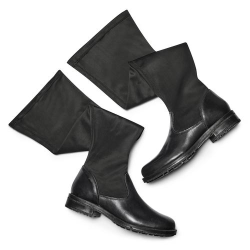 Stivali alti da donna bata, nero, 594-6713 - 19