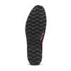 Scarpe platform stringate bata, rosso, 521-5656 - 17