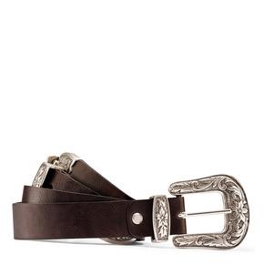 Cintura da donna con doppia fibbia bata, marrone, 951-4131 - 13