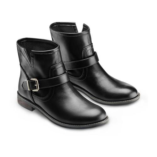Ankle Boots da donna bata, nero, 591-6368 - 16