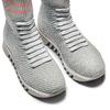 Sneakers calzino da donna bata, grigio, 549-2207 - 17