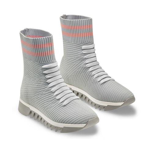 Sneakers calzino da donna bata, grigio, 549-2207 - 16