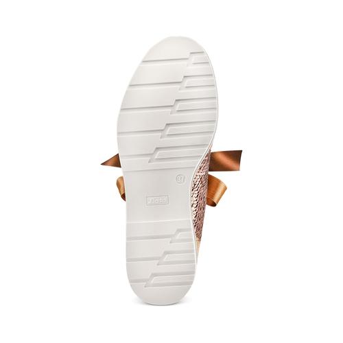 Stringate da donna con paillettes bata, oro, 529-4288 - 19