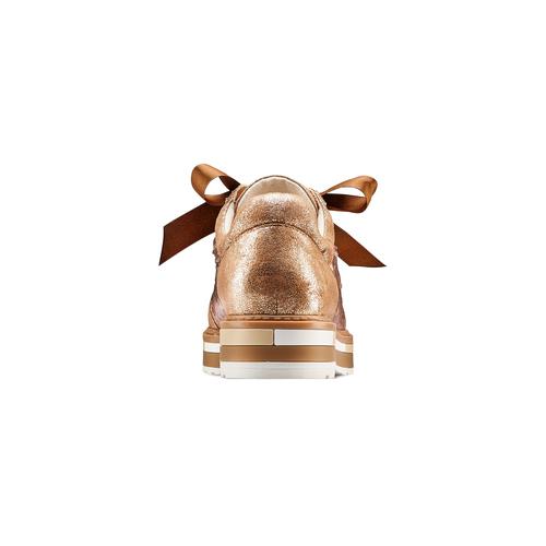 Stringate da donna con paillettes bata, oro, 529-4288 - 15