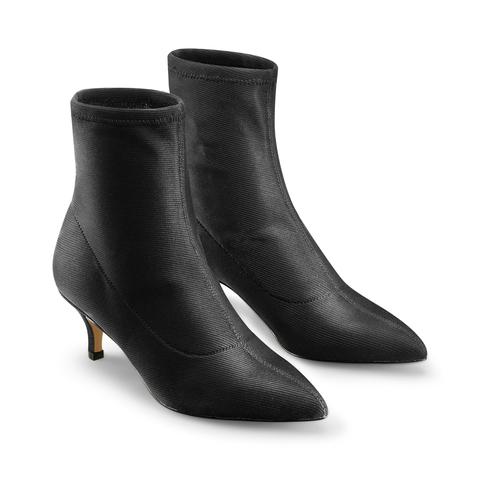 Stivaletti calzino con tacco bata, nero, 799-6267 - 16