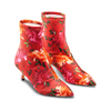 Stivaletti calzino con tacco bata, rosso, 799-5267 - 16