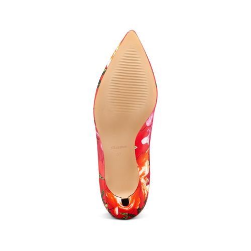 Stivaletti calzino con tacco bata, rosso, 799-5267 - 19