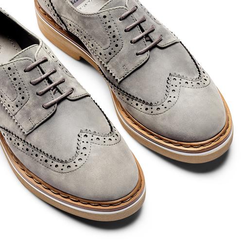 Stringate Brogue da donna bata, grigio, 529-2277 - 26