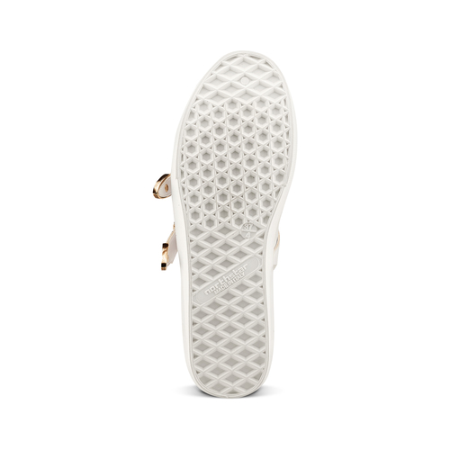 Sneakers con fibbie bata, bianco, 541-1196 - 19