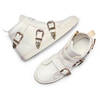Sneakers alte con fibbie bata, bianco, 541-1193 - 26
