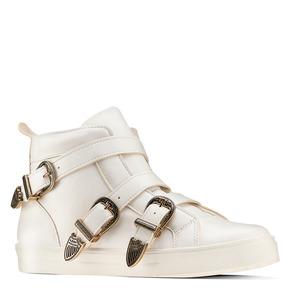 Sneakers alte con fibbie bata, bianco, 541-1193 - 13