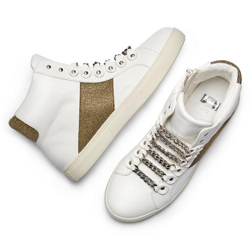 Sneakers alte da donna bata, bianco, 541-1191 - 26
