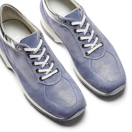 Sneakers casual con lacci bata, blu, 523-9306 - 26