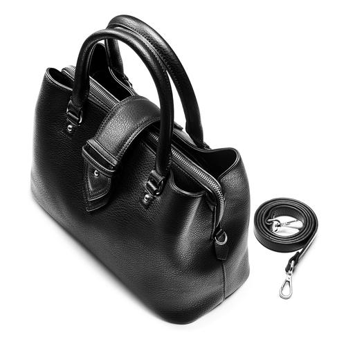 Borsa a mano da donna bata, nero, 961-6216 - 17