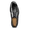 Stringate in pelle con dettagli Brogue bata-the-shoemaker, nero, 824-6342 - 15