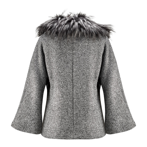 Cappotto con manica a tre quarti bata, grigio, 979-2239 - 26