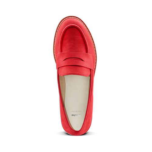 Mocassini in microfibra da donna bata, rosso, 519-5209 - 17