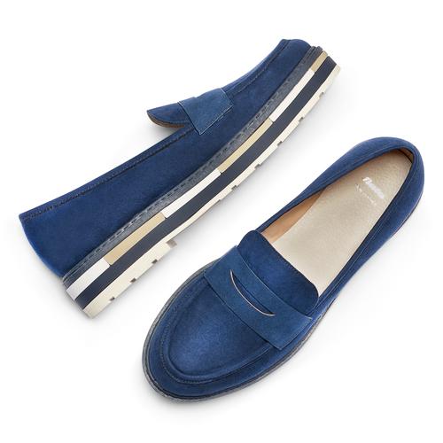 Mocassini Platform da donna bata, blu, 519-9209 - 26