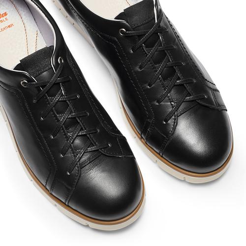 Sneakers Flexible in pelle flexible, nero, 524-6199 - 26