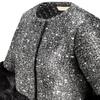 Cappotto con dettaglio in ecopelliccia bata, nero, 979-6241 - 15