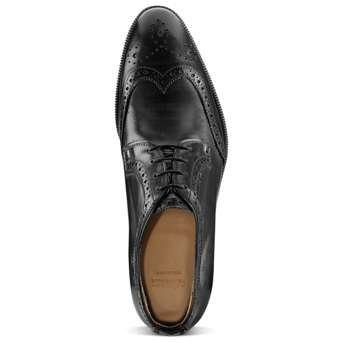 Derby da uomo in pelle bata-the-shoemaker, nero, 824-6335 - 15